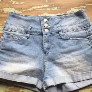 YMI Denim high waisted shorts